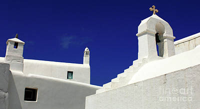 Poster featuring the photograph Mykonos Greece Architectual Line 5 by Bob Christopher