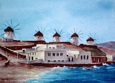 Mykonos Poster