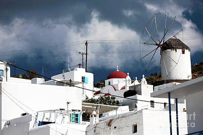 Mykonos Windmill On The Hill Poster