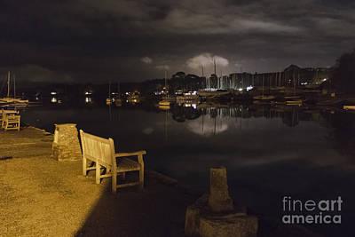 Mylor Bridge Creek At Night Poster by Terri Waters