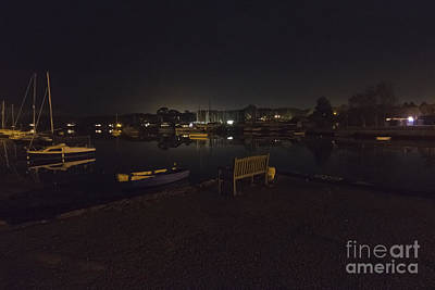 Mylor Creek At Night Poster by Terri Waters