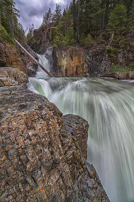 Myra Falls, Strathcona Provincial Park Poster by Robert Postma