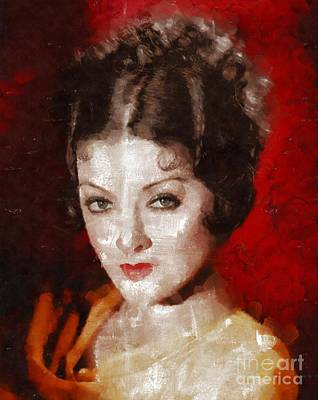 Myrna Loy By Mary Bassett Poster