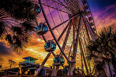 Myrtle Beach Skywheel Poster by David Smith