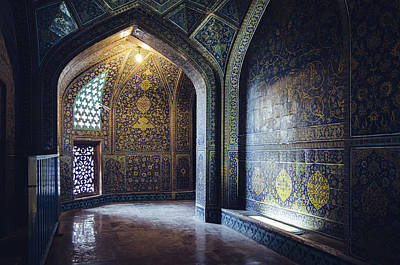Mysterious Corridor In Persian Mosque Poster