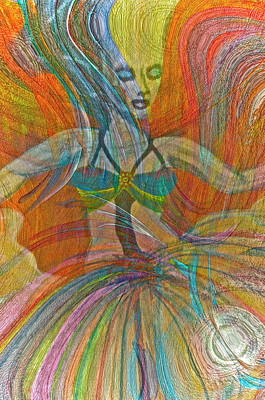 Mysterious Dancer Poster by Gwyn Newcombe
