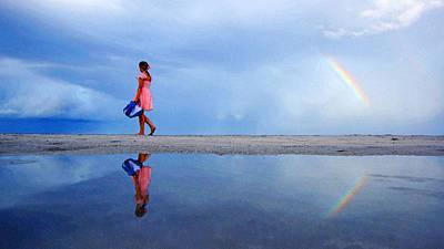 Mysterious Rainbow Girl Poster