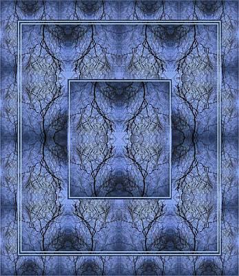 Mystery Blue Poster by Joy Nichols
