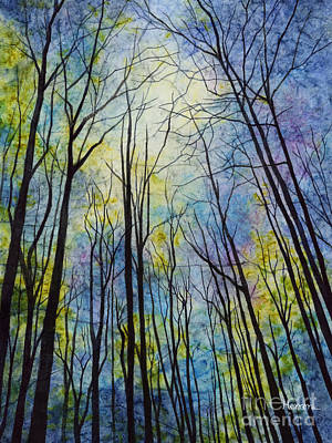 Poster featuring the painting Mystic Forest by Hailey E Herrera