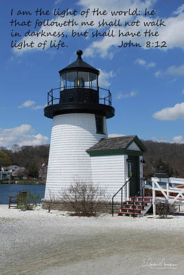 Mystic Lighthouse John 8-12 Poster