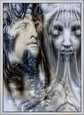 Mystic Lovers - Dual-tone  Poster by Daniel Arrhakis