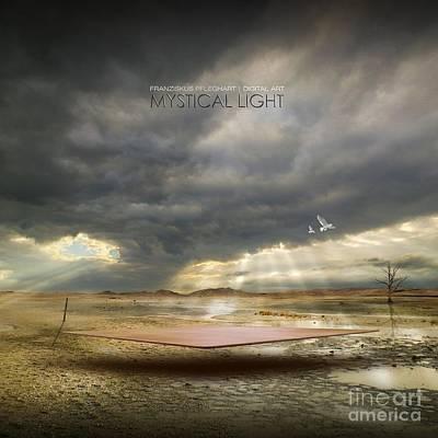 Poster featuring the digital art Mystical Light by Franziskus Pfleghart