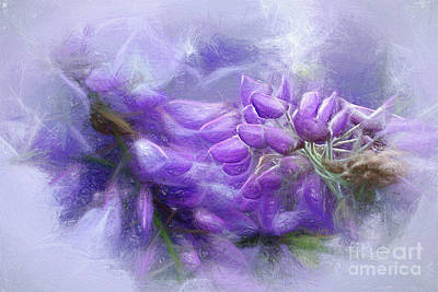 Poster featuring the photograph Mystical Wisteria By Kaye Menner by Kaye Menner