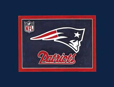 N. E. Patriots T-shirt Poster by Herb Strobino
