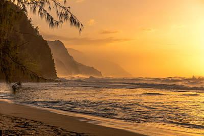 Na Pali Coast Sunset Poster