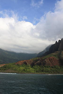 Na Pali Coast Valley Poster by Diane Merkle