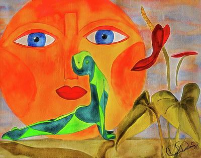 Yoga Watercolor Painting Poster