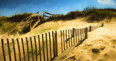 Nags Head Fence Poster by Robert Meyerson