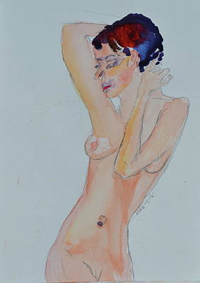 Poster featuring the painting Naked Noelle by Beverley Harper Tinsley