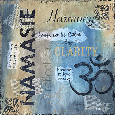 Namaste Poster by Debbie DeWitt