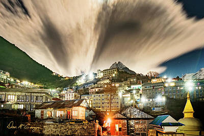 Poster featuring the photograph Namche Night by Dan McGeorge