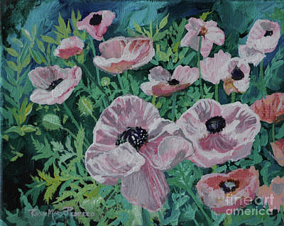 Poster featuring the painting Nancy's Poppies by Robin Maria Pedrero