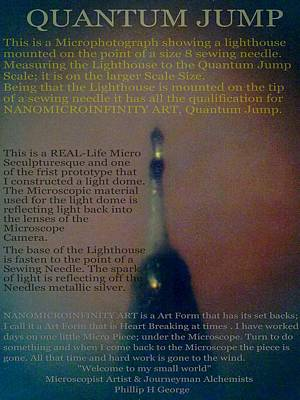 Nanomicroinfinity Art Quantum Jump Poster by Phillip H George