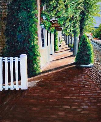 Nantucket Storefronts Poster by Michael McGrath