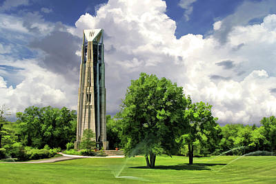 Poster featuring the painting Naperville Millennium Carillon by Christopher Arndt