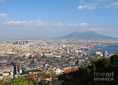 Naples Panoramic View Poster by Kiril Stanchev
