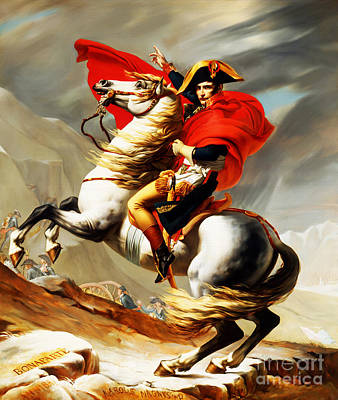 Napoleon Bonaparte On Horse Poster by Gull G