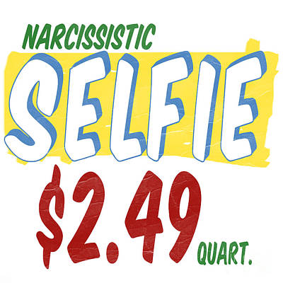 Narcissistic Selfie Supermarket Poster by Edward Fielding