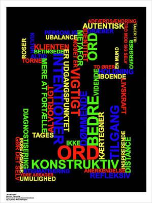 Narrativ Taenkning Danish Poster by Asbjorn Lonvig
