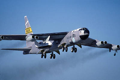 Nasa Boeing Nb-52b Stratofortress With X-38 Crew Return Vehicle Poster
