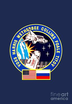 Nasa Sts-63 Mission Insignia Poster