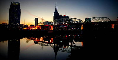 Nashville At Dusk Poster by Laurie Pike