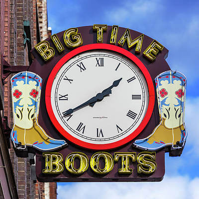 Nashville Big Time Boots Poster by Stephen Stookey