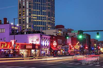 Poster featuring the photograph Nashville - Broadway Street by Brian Jannsen