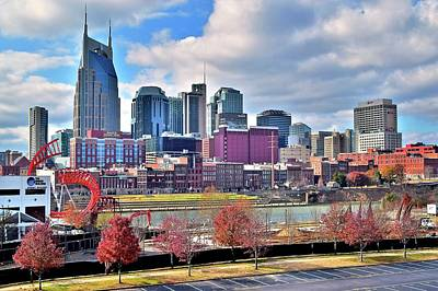 Poster featuring the photograph Nashville Clouds by Frozen in Time Fine Art Photography