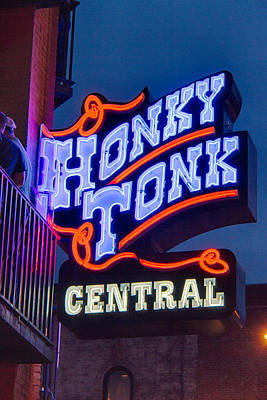 Nashville Honky Tonk Central Poster by Mike Burgquist