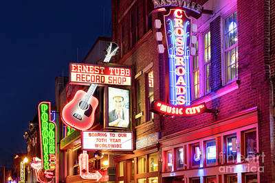 Poster featuring the photograph Nashville Signs by Brian Jannsen