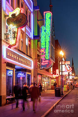 Poster featuring the photograph Nashville Signs II by Brian Jannsen