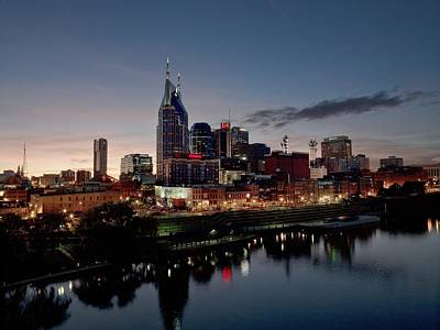 Nashville Skyline And The Cumberland Poster
