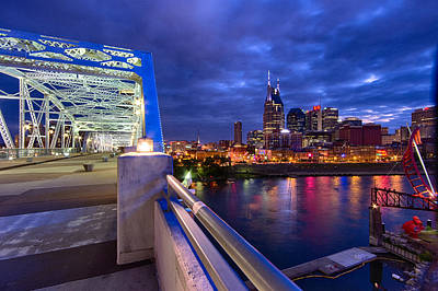 Nashville Skyline Poster by Mike Burgquist