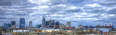 Nashville Tennessee Cityscape Art Poster