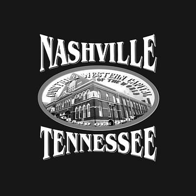Nashville Tennessee Design Poster