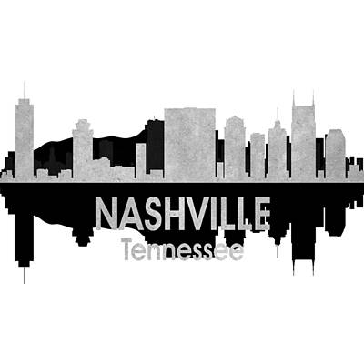 Nashville Tn 4 Squared Poster by Angelina Vick