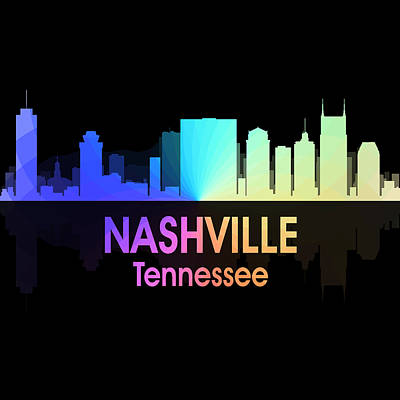 Nashville Tn 5 Squared Poster by Angelina Vick