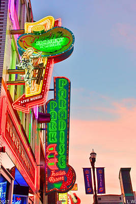 Nashville's Neon Signs Poster by Lisa Wooten