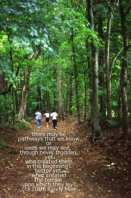 Natchez Trace Walkers With Poem Poster